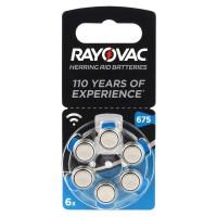 Батарейка Rayovac ACOUSTIC ZA675 BL6 Zinc Air 1.45V 0%Hg (6/60/600)
