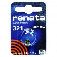 Батарейка Renata 321 BL1 Silver Oxide 1.55V (1/10/100)