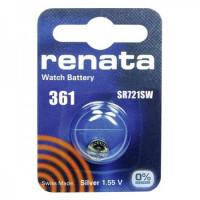 Батарейка Renata 361 BL1 Silver Oxide 1.55V (1/10/100)