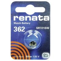 Батарейка Renata 362 Silver Oxide 1.55V (1/10/100)