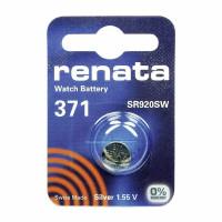 Батарейка Renata 371 Silver Oxide 1.55V (1/10/100)