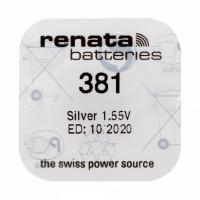 Батарейка Renata 381 BL1 Silver Oxide 1.55V (1/10/100)
