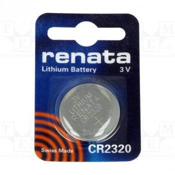 Батарейка Renata CR2320 BL1 Lithium 3V (1/10/300/36000)