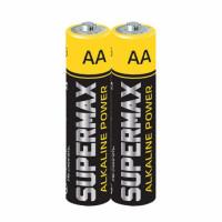 Батарейка Supermax LR6 AA Shrink 2 Alkaline 1.5V (2/40/800)