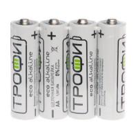 Батарейка Трофи Eco LR6 AA Shrink 4 Alkaline 1.5V (4/60/720/21600)