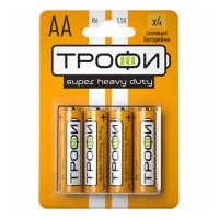 Батарейка Трофи Super R6 AA BL4 Heavy Duty 1.5V (4/40/720/25920)