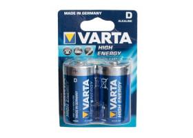 Батарейка Varta HIGH ENERGY LR20 D BL2 Alkaline 1.5V (4920) (2/20/100)