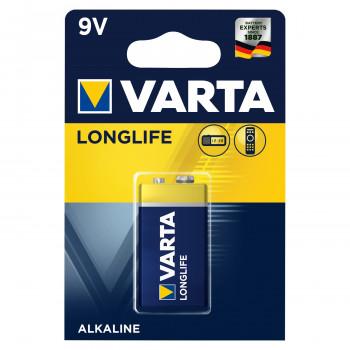Батарейка Varta LONGLIFE Крона 6LR61 BL1 Alkaline 9V (4122) (1/10/50)