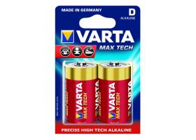 Батарейка Varta MAX TECH LR20 D BL2 Alkaline 1.5V (4720) (2/20/100)