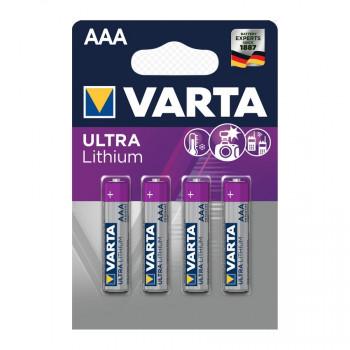 Батарейка Varta ULTRA FR03 AAA BL4 Lithium 1.5V (6103) (4/40/200)