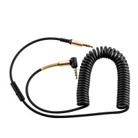 AUX кабель HOCO  UPA02 AUX Spring Audio cable (with Mic) черный