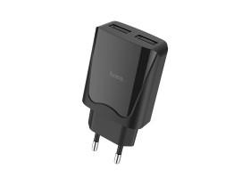 СЗУ с 2-мя USB выходами HOCO C52A Authority power dual port charger(EU) черный