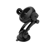 Держатель для смартфона HOCO CA35 Plus auto-induction wireless fast charging in-car phone holder черный