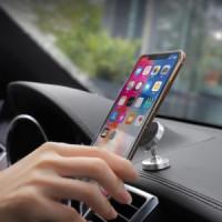 Держатель для смартфона HOCO CA36 Plus Dashboard metal magnetic in-car holder серебро