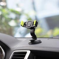 Держатель для смартфона HOCO CA40 Refined suction cup base in-car dashboard phone holder черно-желтый