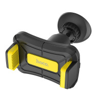 Держатель для смартфона HOCO CA43 Travel spirit push-type dashboard in-car holder черно-желтый