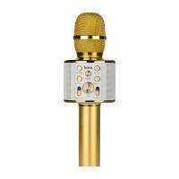 Беспроводной портативный микрофон HOCO BK3 Cool sound KTV microphone золото