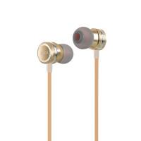 Наушники HOCO M16 Ling sound metal universal earphone with mic золото