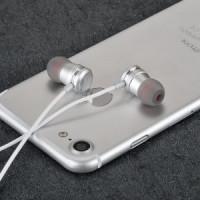 Наушники HOCO M16 Ling sound metal universal earphone with mic серебро