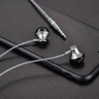 Наушники HOCO M18 Goss metal universal earphone with mic серый