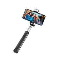 Палка для селфи  K10A Magnificent wireless selfie stick with backlight(L=1.1m) черный