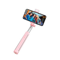 Палка для селфи  K10A Magnificent wireless selfie stick with backlight(L=1.1m) розовый