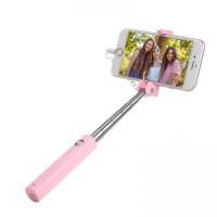 Палка для селфи K8 Starry lightning mini wired selfie stick розовый