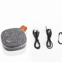 Стерео колонка HOCO BS9 Light textile desktop wireless speaker gray
