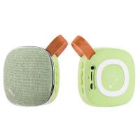 Стерео колонка HOCO BS9 Light textile desktop wireless speaker green