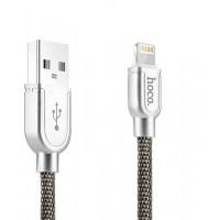 USB кабель Lightning HOCO U15 For lightning eminently lucidity charging cable серый