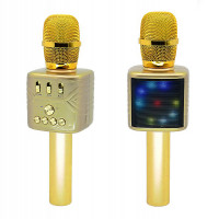 Караоке микрофон Bluetooth MD-03 золотой