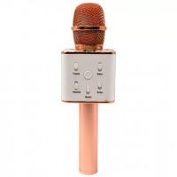 Караоке микрофон Bluetooth Q7 бронза