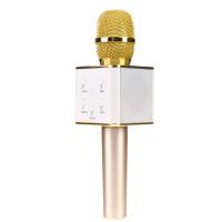 Караоке микрофон Bluetooth Q7 золотой