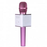 Караоке микрофон Bluetooth Q9 розовое золото