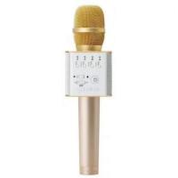 Караоке микрофон Bluetooth Q9 золотой