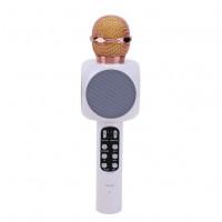 Караоке микрофон Bluetooth WS-1816 белый